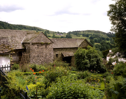 The Farm buildings at Townend, lake District, Cumbria