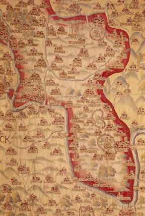 Tapestry map in the Queen's Room