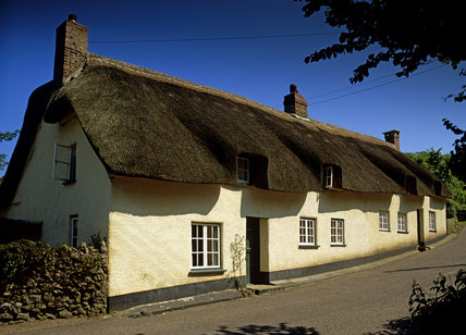 Forge Cottages, a pair of thatched cottages at Branscombe, Devon