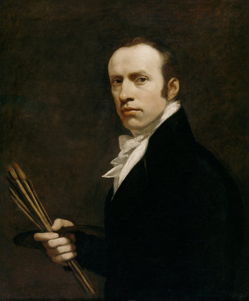Painting at Trerice - a self portrait of John Opie RA (1761 - 1807) painted c. 1805