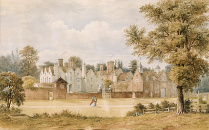 Early 19th century watercolour of Packwood House by an unknown artist