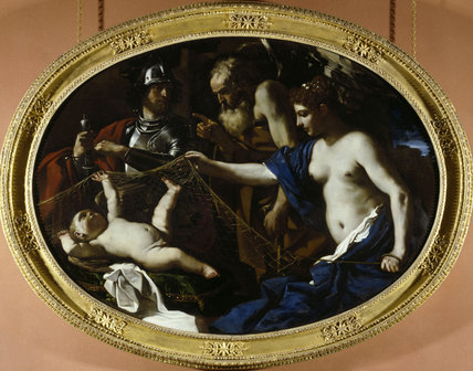 ALLEGORY WITH VENUS, MARS, CUPID AND TIME by Il Guercino (1591-1666) from the Great Gallery at Dunham Massey