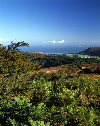 A view from Dunkery, Exmoor looking towards Porlock Bay