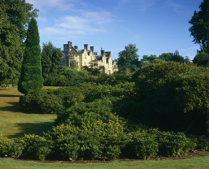 The new house at Scotney Castle, Kent, built between 1837 and 1842 in the grounds of the original C14th moated castle
