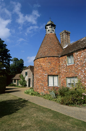 Outbuilding which includes an oast-house at Bateman's at Burwash, East Sussex