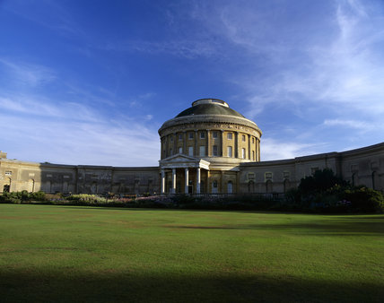 The exterior of Ickworth, the building started in 1795 by iIalian architect Mario Asprucci the Younger but halted in 1803 on the death of the 4th Earl of Bristol