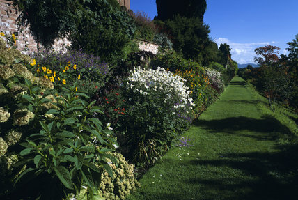 View along the Terrace Garden at Powis Castle
