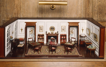 The Regency Games Room in the Carlisle Collection at Nunnington Hall