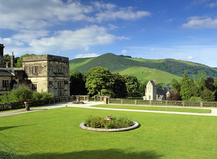 The Garden Terrace, Ilam Hall (now let to YHA), Ilam Park, Derbyshire