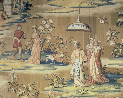 Detail of the tapestry by John Vanderbank, (d