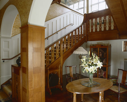 The Staircase from the Lower Staircase Hall at Standen, West Sussex