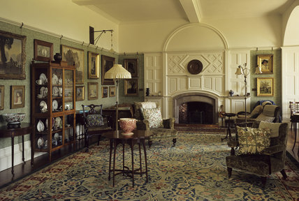 Standen, The Drawing Room with William Morris carpet (hand knotted)