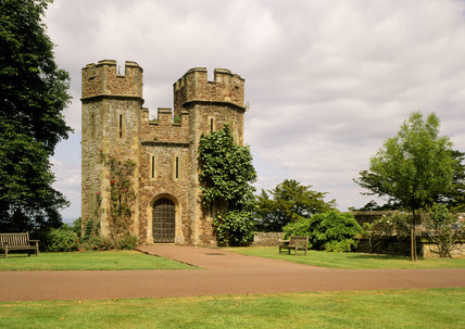 The Gatehouse at Dunster Castle, erected in 1420 by Sir Hugh Luttrell, the first of the family to live at the castle