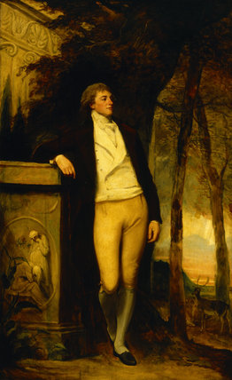 WILLIAM BECKFORD (1760-1844) by George Romney (1734-1802) from Upton House
