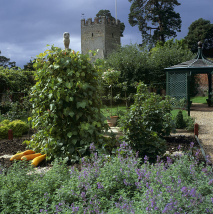 View of the entrance of the Kitchen Garden, Greys Court, from the Orchard