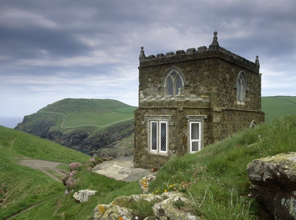 Doyden Castle, a castellated stone folly, in Port Quin