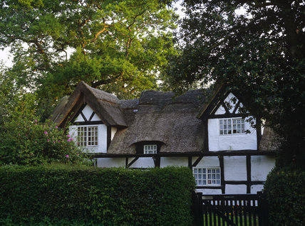 Tudor Cottage, the timber-framed building in Style, probably originally the house of a prosperous yeoman farmer