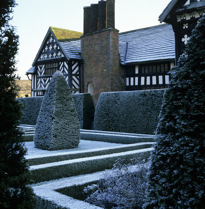 The East Wing of Little Moreton Hall, viewed across the Knot Garden