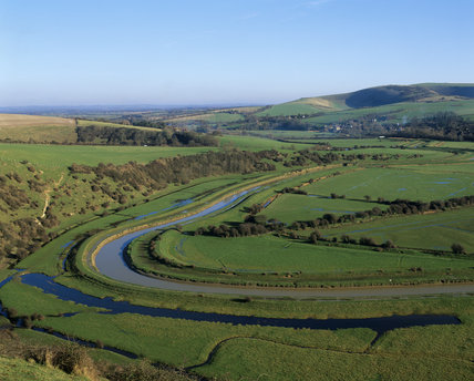 View of Frog Firle Farm in East Sussex