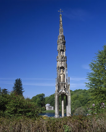 Closeup of the Bristol High Cross in the garden at Stourhead