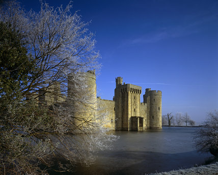 Bodiam Castle on a very frosty morning