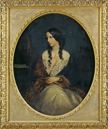 PORTRAIT OF LADY ARABELLA FERMOR by Grant at Rufford Old Hall, photographed at correct exposure for frame