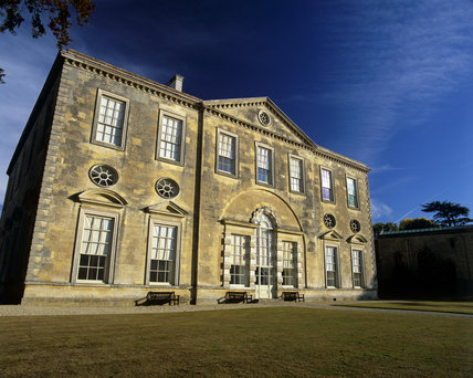 West front of Claydon House in evening sun