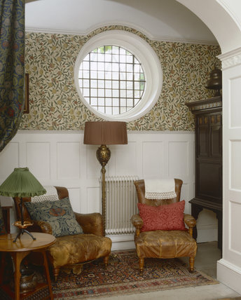 The Billiard Room alcove at Standen, West Sussex
