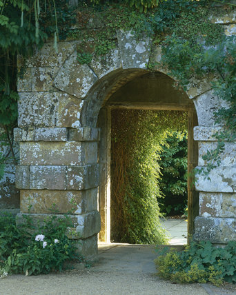 Stone arched entrance at Scotney Castle
