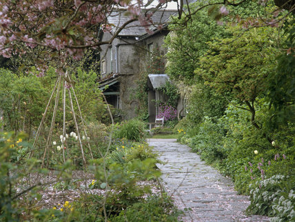 The garden at Hill Top, Cumbria, the home of Beatrix Potter