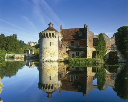 The C14th moated Scotney Castle, Kent