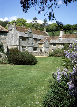 View of the sixteenth and seventeenth-century manor house (tenanted, not generally open to the public) at Mottistone