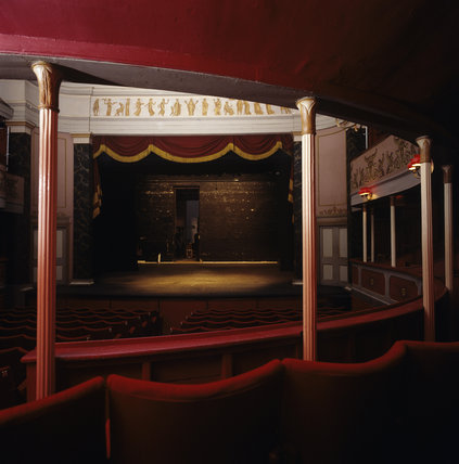 An interior of the Theatre Royal looking towards the stage