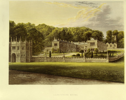 An engraving of Lanhydrock from the east