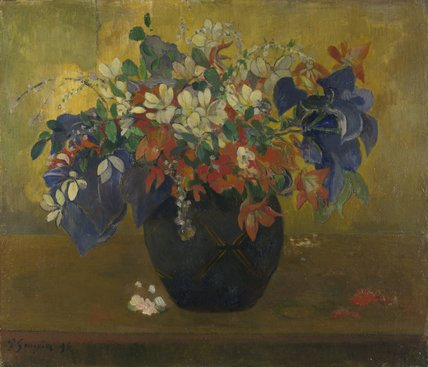 Print Of A Vase Of Flowers By Paul Gauguin National Gallery Prints