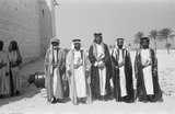 Thesiger with sheikhs at Abu Dhabi