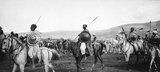 Abyssinian warriors on horseback