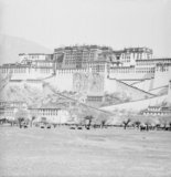 Potala palace at the time of the Sertreng ceremony