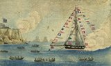 Painting of H.M.R. Cutter Greyhound