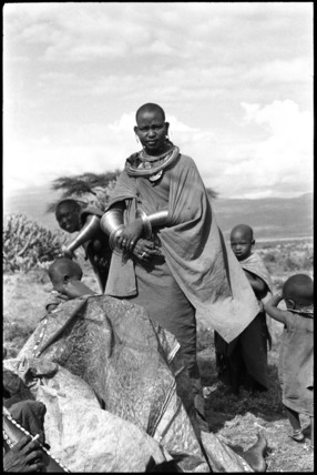 Maasai woman wearing jewellery