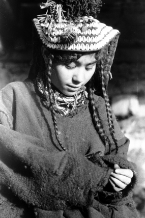 Kalash woman wearing a hat