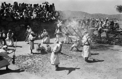 Firing muskets at a circumcision celebration