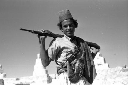 Arab man with a rifle