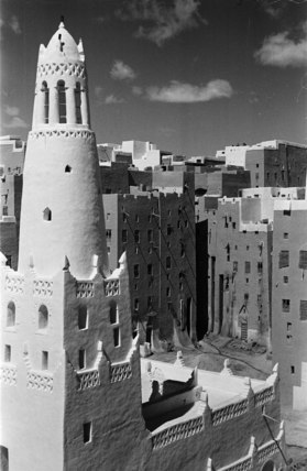 Mosque and houses at Shibam