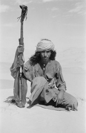 Salim bin Kabina with his rifle