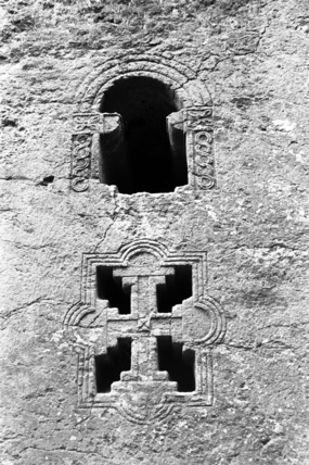 Carved church windows