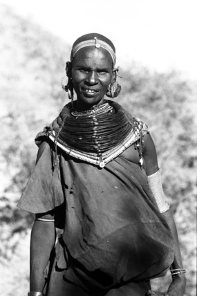 Samburu woman wearing jewellery