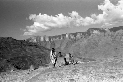 Farmers in the Simien mountains