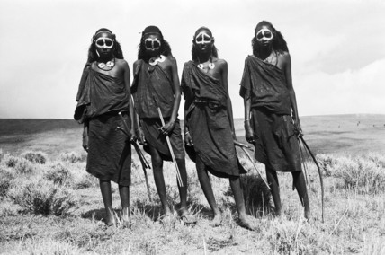 Maasai youths after circumcision