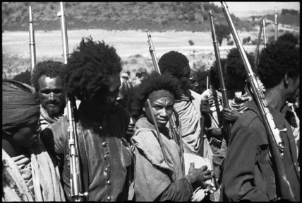 Abyssinian Patriot soldiers with rifles